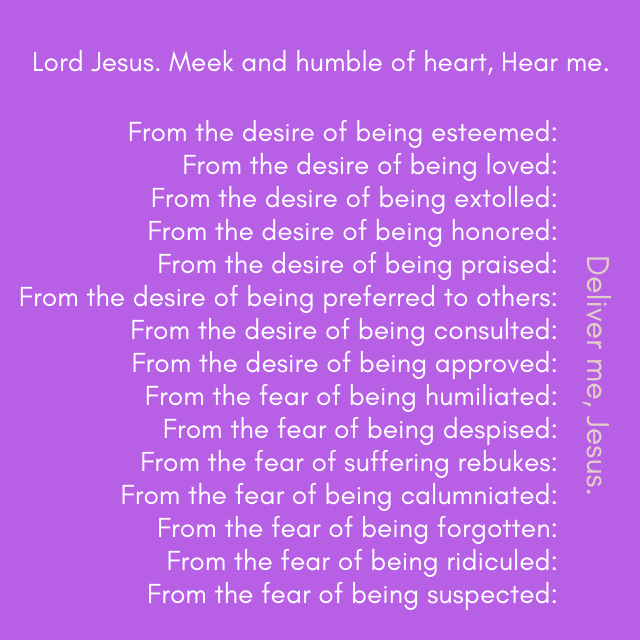 photograph relating to Litany of Humility Printable referred to as Website Innovative Catholic Magazine Small business